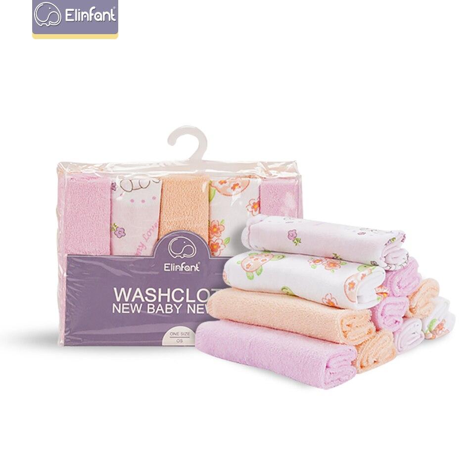 Elinfant 10 Pcs/set  23×23cm Baby Cotton Towel Kids Towel High Quality Small Square Towel