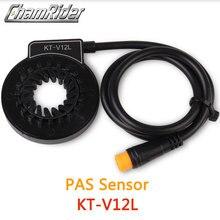 À prova dwaterproof água conector plug pas pedal assist sensor KT V12L 6 ímãs duplo salão sensores 12 sinais