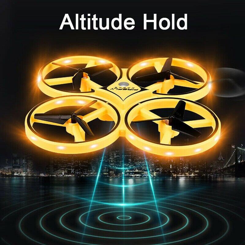 Mini Drone Quadrocopter UFO Indução de corrida Relógio Inteligente Gesto Remoto Somatossensorial da Aeronave RC Avião helicóptero uav RC Brinquedos