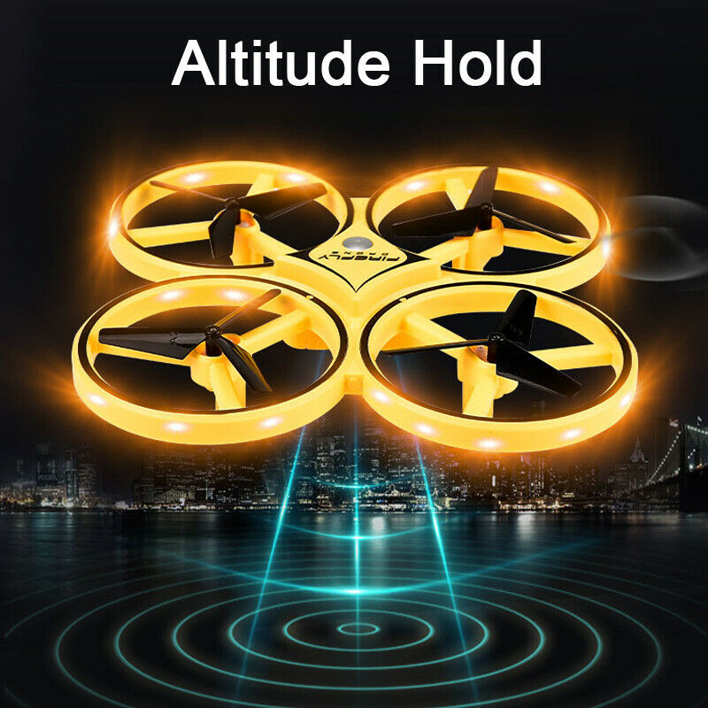 Mini Drone UFO Induction racing Quadrocopter Smart Watch Remote Gesture RC Aircraft Somatosensory Plane helicopter uav RC Toys-in RC Helicopters from Toys & Hobbies