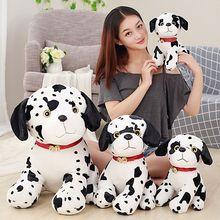 Cute Spotted Dog Push Toy Simulation Dalmatian Soft Stuffed Animals
