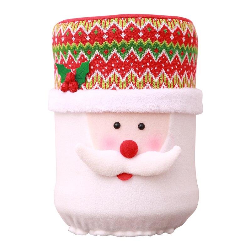 НОВАЯ РОЖДЕСТВЕНСКАЯ Пылезащитная крышка воды емкостный диспенсер контейнер очиститель бутылки Рождественское украшение для дома милые бусеты крышки зыбучий песок - Цвет: C