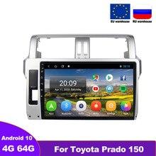 DOVOX 2 Din Android 10 Radio para Toyota Prado 150 2014 - 2018 coche Multimedia Video Player navegación GPS Autoradio 4G RDS ESTÉREO