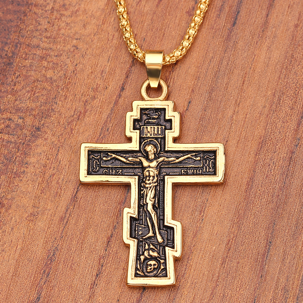 """Solid Sterling Silver Nice Detail Crucified Jesus 3.75/"""" Long Large Cross Pendant"""