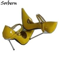 Sorbern Sexy Pointed Toe Women Pumps Mary Janes Steel High Heels 12Cm 14Cm 16Cm 18Cm Plus Size Shoes Us5 16 Ladyboy Shoes Custom