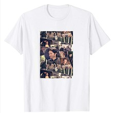 Vida de cara colagem gisborne richard armitage giz robin hood mosaico presentes engraçado das mulheres dos homens meninas unissex camiseta (1)