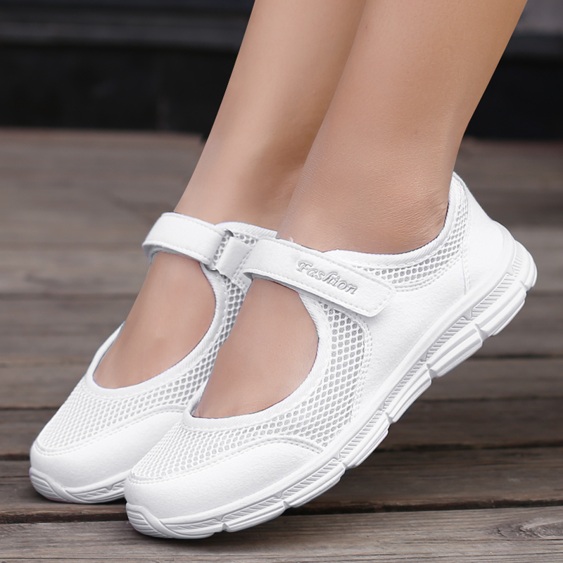Cheap 2019 Light Mesh Sneakers Women Flats Breathable Comfortable Women's Shoes Flat Outdoor Mother Ladies Casual Shoes Woman