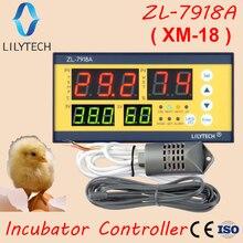Xm 18, ZL 7918A, yumurta kuluçka denetleyicisi, çok işlevli otomatik sıcaklık nem kontrolü, 100 240Vac,CE,ISO, lilytech, xm 18