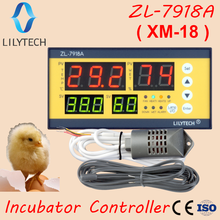 xm-18, ZL-7918A, Egg Incubator Controller, Multifunction Automatic Temperature Humidity Control,100-240Vac,CE,ISO,Lilytech,xm 18