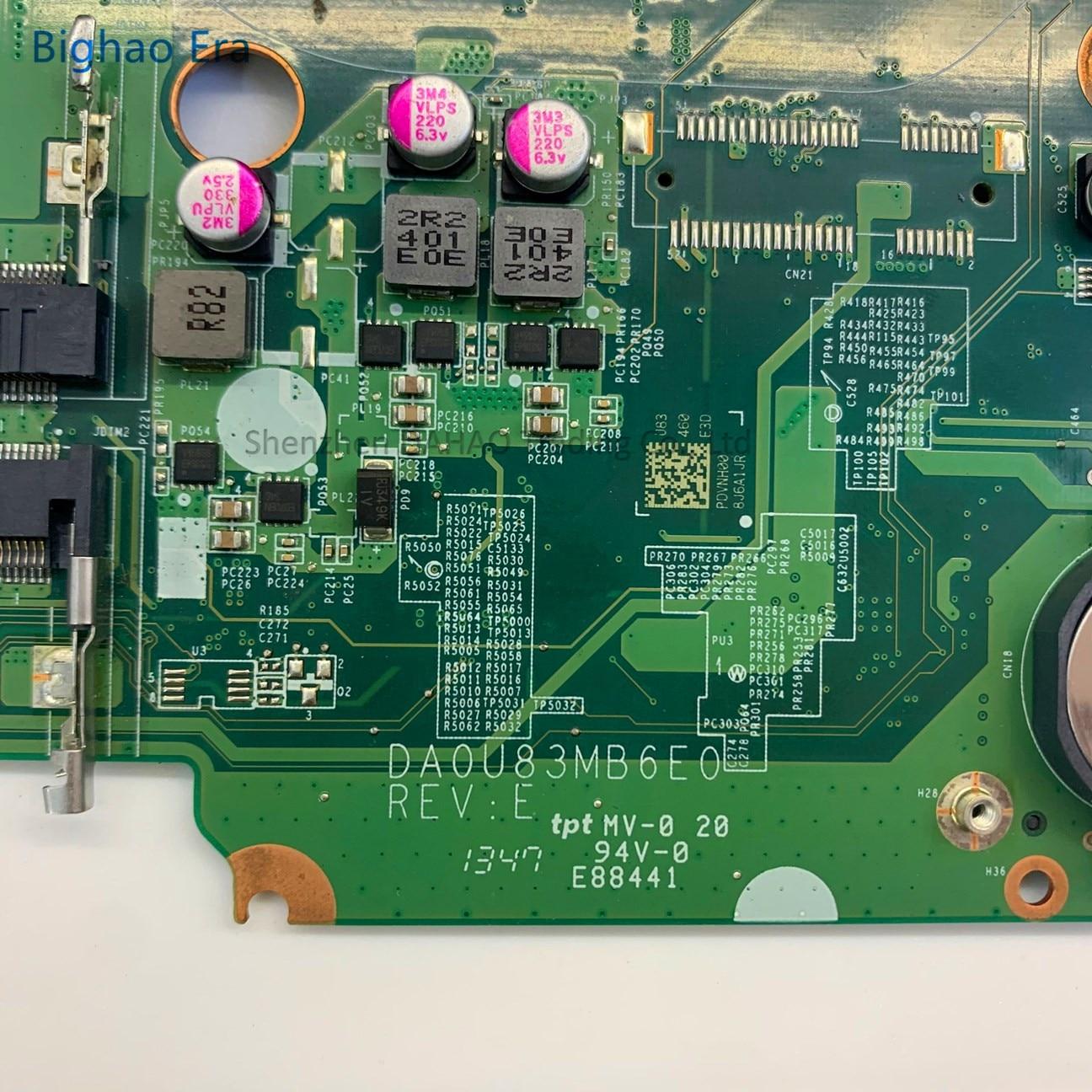790202-501 782103-501 732087-501 For HP Pavilion 15 15-N 15-F U83 Laptop Motherboard DA0U83MB6E0 W/ I3 CPU DDR3L 100% Fully Test 3