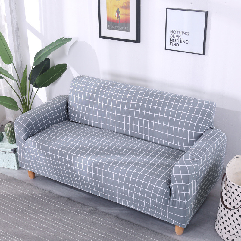 Stretchable Sofa Cover with Elastic for Sectional Couch Protects Sofa from Stains Damage and Dust 4