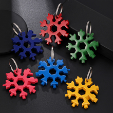 Keychain Wrench Screwdriver Snowflake-Tool-Card Bike-Hand-Tools Multifunction Color Men