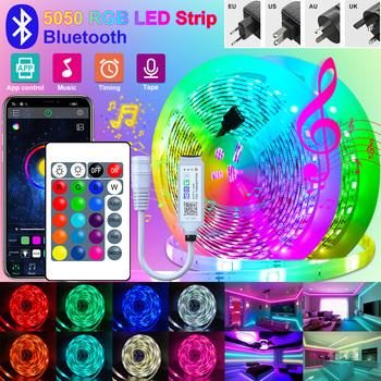 Taśma Led z Bluetooth 2M-30M RGB 5050 2835 taśma Led światła elastyczne taśmy LED Wifi wstążka do pokoju boże narodzenie w domu Party tanie i dobre opinie RiRi won CN (pochodzenie) ROHS SALON 30000 PRZEŁĄCZNIK 3 84 w m Epistar Smd5050 RGB 5050 2835 wifi 5050rgb 5050 Led strip light