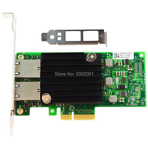 Image 2 - FANMI  PCI E X4 X550 T2 10G Ethernet Server Adapter Dual Port RJ45 Converged Network Adapter X550T2BLK