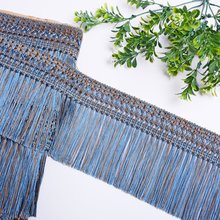 11m 12cm Long polyester lace trim ribbon fringe tassel trim lace trimmings for sewing Latin Dress Stage Garment DIY Accessories