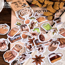 46pcs/lot Vintage Coffee Drinks Stickers Journal Decorative Stationery Stickers Planner DIY Crafts Scrapbooking Diary Stickers