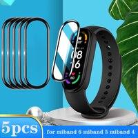 Vetro protettivo 3D per Xiaomi Mi Band 4 5 6 pellicola salvaschermo per Miband 5 4 Cover Smart Watchband xiaomi Miband 5 6 4 Soft Film