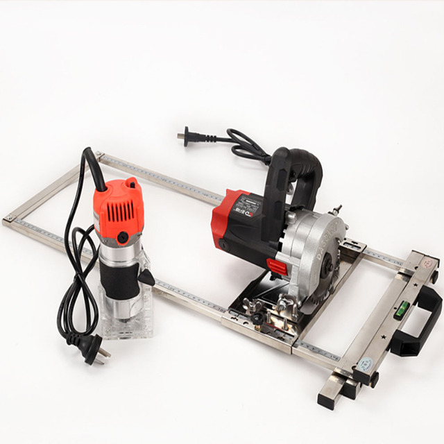 Electricity Circular Saw Trimmer Machine Edge Guide Positioning Cutting board tool Woodworking Router Circle Milling Groove tool