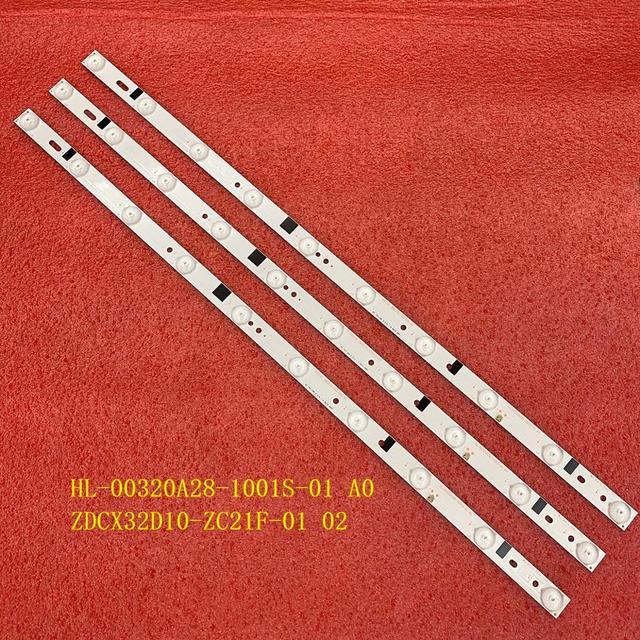 3 PCS tira Retroiluminação LED Para H32B3100E CX315DLEDM 303CX320035 180.DT0 32D700 0H HL 00320A28 1001S 01 A0 ZDCX32D10 ZC21F 01 02