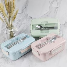 Lunch Box Wheat Straw Dinnerware Food Storage Container Children Kids School Office Portable Bento Box Food Container Japanese 1100ml microwave lunch box wheat straw dinnerware food storage container children school office portable bento box kitchen tools