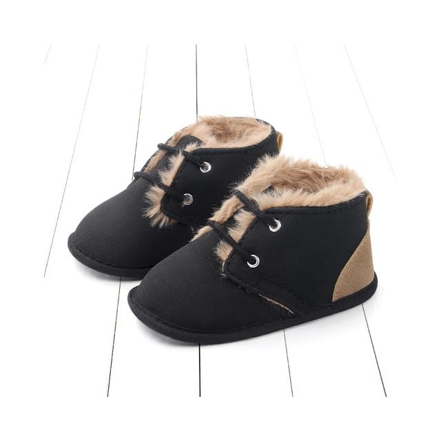 Фото зимние ботинки для младенцев; плюшевая обувь кроватки с леопардовым
