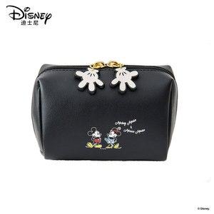 Image 2 - Disney Kosmetische Tasche Nette Mickey Multi funktion Frauen Handtasche Make Up Wasserdichte Reise Kosmetik Tasche Frauen Leder Handtaschen