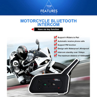 Vnetphone motocicleta bluetooth walkie talkie v4 completo duplex chamada em tempo real capacete bluetooth walkie talkie fone de ouvido
