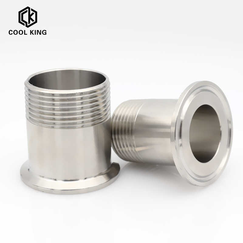 Thread Specification : DN40 Sturdy 5pcs 1//2-2 Adapters For Heater Sanitary Stainless Steel SS304 Female Threaded Ferrule Pipe Fittings Tri-Clamp DN15-DN50