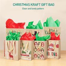 TINKSKY 24 шт крафт-бумажные пакеты с ручкой вечерние подарочные сумки рождественские подарочные пакеты