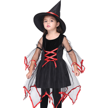 Halloween Costumes for Girls Witch Cosplay Performance Costume Party Mesh Dance Dress Clothes Photo Shoot