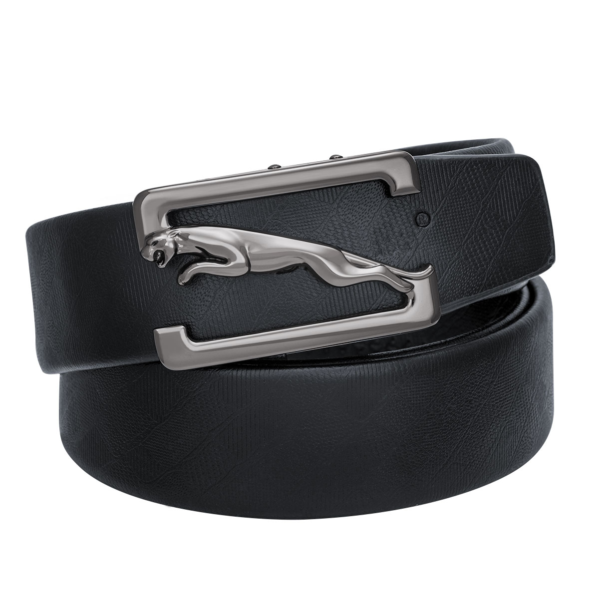 Men's Leather Alloy Automatic Buckle Jeans Belt Brand Belts Luxury Cowhide Male Strap With 3 Buckles Box Set Gift DiBanGu