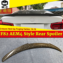 купить For BMW F82 M4 2 door Coupe Hard Top High kich Forging Carbon Fiber Rear Trunk spoiler wing M4 style 4 series 420i 430i 2014-18 дешево