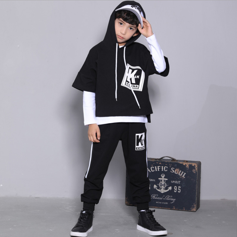 Cheap Kids Hip Hop Dance Clothing For Boys Hoodies Top+ Full Pants+T Shirt  Costumes Ballroom Dancing Clothes  3 Pieces Outfits