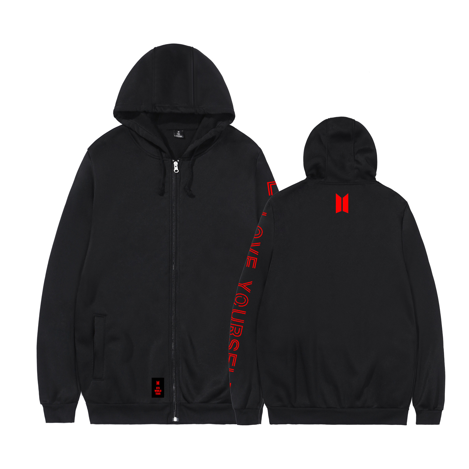 BTS Concert Celebrity Style Bulletproof Boys Related Products Zipper Hoodie Casual Men And Women Couples Coat