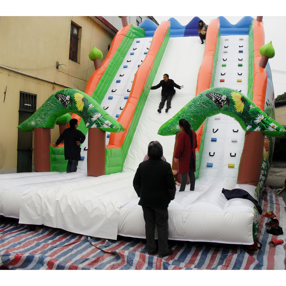 new style colorful inflatable bounce slide amusement park