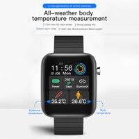 T68 zoll Touch Herz Rate Smart Armband Bluetooth-kompatibel IP67 Wasserdichte Sitzende Erinnerung Schlaf Monitor Fitness Uhr
