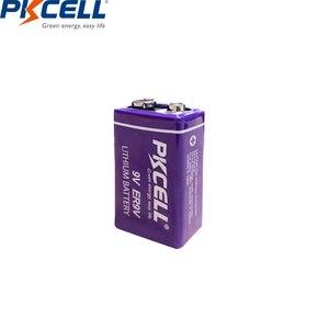 Image 2 - 2 pièces PKCELL ER9V 1200mAh 9V Li SOCl2 Batteries au Lithium Bateria pour détecteur de fumée batterie lithium ion 6LR61 6f22thermome électronique