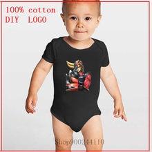 Детская летняя одежда унисекс для малышей с изображением робота Goldrake, костюм с короткими рукавами для девочек и мальчиков, детский летний к...
