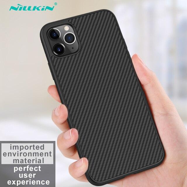 מקרה עבור iPhone 12 Mini 11 Pro Max XR X XS Max iPhone11 מארז Nillkin סינטטי סיבי פחמן פלסטיק כיסוי עבור iPhone 11 מקרה