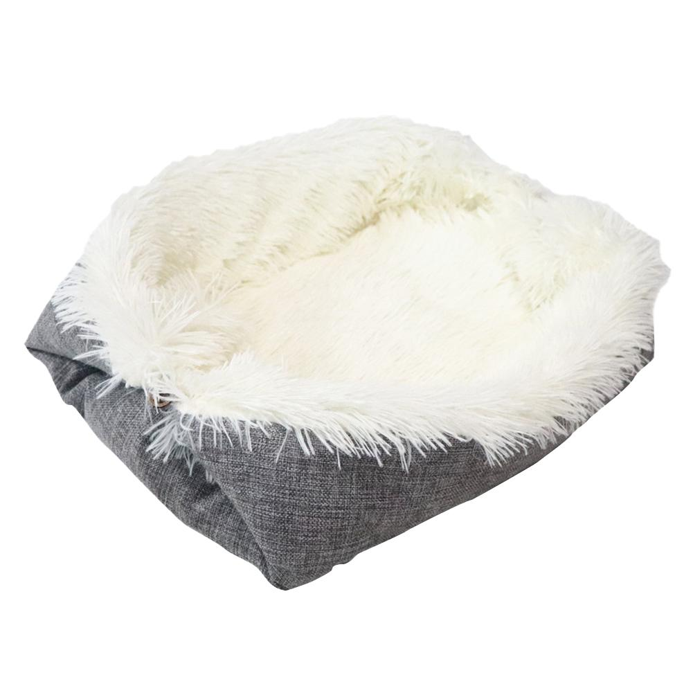 Cat Pet Bed Long Plush Super Soft Pet Bed Kennel Winter Warm Sleeping Bed Cushion Multi function Convertible Pad For Products in Houses Kennels Pens from Home Garden