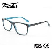 Kirka erkekler gözlük çerçeve optik 2020 Vintage erkekler şeffaf Lens reçete gözlükler asetat gözlük gözlük çerçeve erkekler için