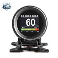 AUTOOL-herramienta de diagnóstico Digital X60 OBD2 HUD, pantalla de visualización de temperatura, Auto Turbo Kpa, medidor odómetro de velocidad, 12V, pantalla de coche