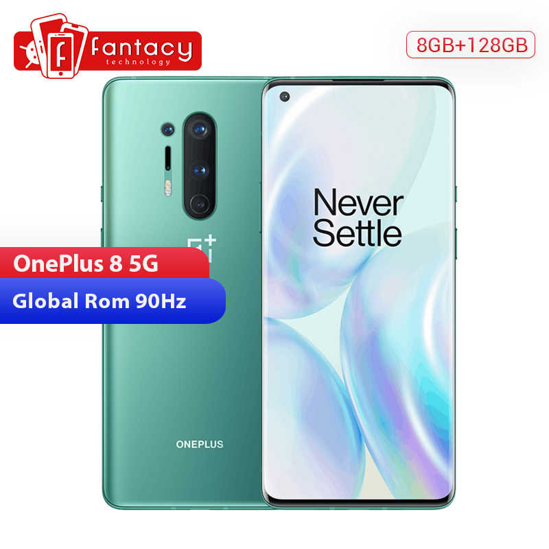 In Stock Global Rom Oneplus 8 5Gสมาร์ทโฟนSnapdragon 865 Octa Core 8GB 128GB 6.55 ''3120X1440 90Hz Android 10 30W NFC