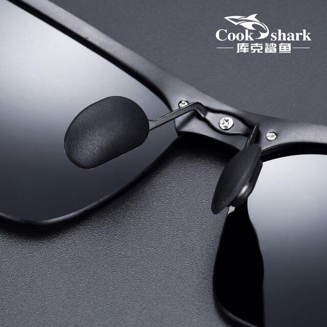 Gafas de sol de aluminio y magnesio para hombre, lentes de sol masculinas polarizadas HD, adecuadas para conducir, 2020 4