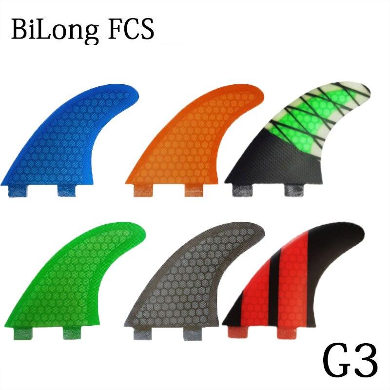 BiLong FCS G3, доска для серфинга, плавники из углеродного волокна, маленькие Thrusters, Фотоэлементы в виде сот, искусственные плавники для серфинга