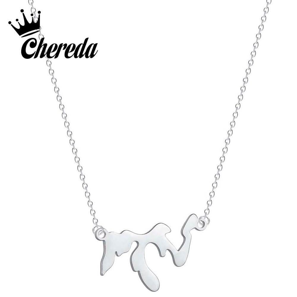 Chereda Simple Geometric Great Lakes Necklace for Women Girl Statement Long Chain Jewelry Body Accessories in Pendant Necklaces from Jewelry Accessories
