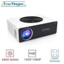 TouYinger Q9 LCD 6800 люмен Разрешение 1920 * 1080P Full HD проектор видео для домашнего кинотеатра проектор с низкой задержкой
