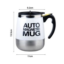 400ML Electric Stainless Steel Auto Self Stirring Coffee Mug Magnetized Mixing Cup for Tea Milk Hot Chocolate Cocoa Protein