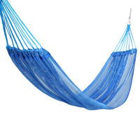 Portable Hammock Chair Mesh Fabric Swing Seat Garden Indoor Outdoor Fashionable Breathable Hammock Swings Camping Hammock