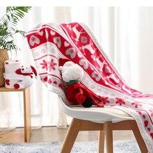 Toddler Blanket Newborn Bedding Baby Stroller Cartoon Dog Soft Christmas-Gift Santa-Claus